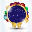 Abstract Christmas and New Year frame background. vector illust — Stock Photo