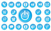 Vector icon set for web. — Stock Vector
