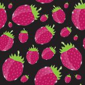Morango, creme hipnótico abstrato. vector illustrat — Vetorial Stock