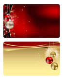Set of vector christmas / New Year banners (cards) — Stock Vector