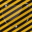 Glass frame on grunge striped cunstruction background vector ill — ストックベクター #13660530