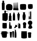 Large gamme de pots cosmétiques — Vecteur