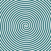 Zwart-wit hypnotische achtergrond. — Stockvector