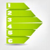 Concetto di origami colorati per la progettazione di business differenti. vect — Vettoriale Stock