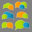 Speech bubbles vector illustration - Grafika wektorowa