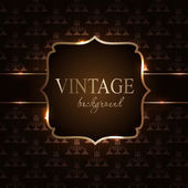 Vintage background with golden frame vector illustration — Stock Vector