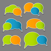 Speech bubbles vector illustration — Stock Vector