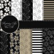 Set of beaautiful vector paper for scrapbook - Stock vektor