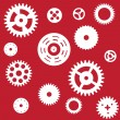 Stok Vektör: Machine Gear Wheel Cogwheel seamless pattern. Vector illustratio