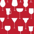Alcoholic glass seamless pattern. Vector illustration. EPS 10. — Vettoriali Stock