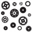 Stock Vector: Machine Gear Wheel Cogwheel seamless pattern. Vector illustratio
