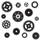Machine Gear Wheel Cogwheel seamless pattern. Vector illustratio — Stock Vector