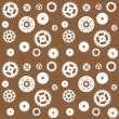 Machine Gear Wheel Cogwheel seamless pattern. Vector illustratio — Stock Vector #14327509