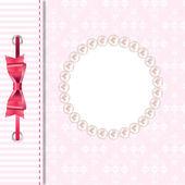 Vektor-Grußkarte oder Decken mit Bogen. Platz für Ihren Text oder p — Stockvektor
