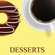 Stock Vector: Vector dessert menu