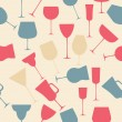 Seamless background pattern of black alcoholic glass. - Imagen vectorial