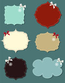 Set of different speech bubbles, design elements — Stock Vector