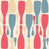 şişe ile vektör arka plan. restoran / bar menüsü için iyi — Stok Vektör