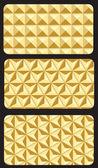 Modèles de carte de visite avec l'abstrait de la mosaïque - vector — Vecteur