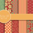 Set of beaautiful vector paper for scrapbook — Image vectorielle