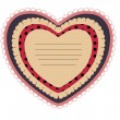 Beautiful card with heart — Imagen vectorial