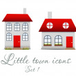Little town icons set. Vector illustration — Stock Vector #17589933