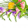 Colorful flowers bouquet isolated on white background. — Stock Photo #17614037