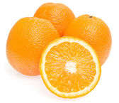 Fresh oranges on white background — Stockfoto