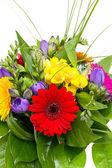 Beyaz arka plan üzerinde izole renkli çiçek buketi. — Stok fotoğraf