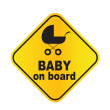 Stock Vector: Baby on board sign vector illustration