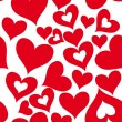 Valentine seamless hearts pattern — 图库矢量图片