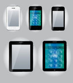 Tablet computer and mobile phone icons. vector illustration — Stock Vector
