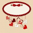 Valentines day heart backgroung, vector illustration — Imagen vectorial