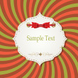 Gift card with ribbons, design elements. Vector illustration — Vector de stock #18298427