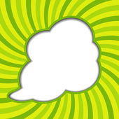 Clouds background with sun rays vector illustration — Vector de stock