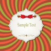 Gift card with ribbons, design elements. Vector illustration — Stock Vector