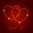 Valentines day heart backgroung, vector illustration - Image vectorielle