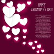 Valentines day paper heart backgroung, vector illustration — Image vectorielle