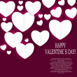 Valentines day paper heart backgroung, vector illustration — Stockvektor