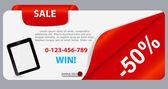 Prodej banner s místem pro váš text. vektorové ilustrace — Stock vektor
