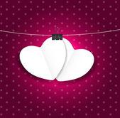 San Valentino carta cuore backgroung, illustrazione vettoriale — Vettoriale Stock