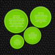 Circle banner vector illustration background - Vettoriali Stock