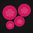 Circle banner vector illustration background - 
