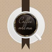 El concepto de menú de la cafetería. — Vector de stock