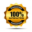 Vector 100% satisfaction guaranteed label . — Stock Vector