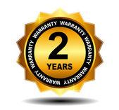 Gold vector guarantee sign, warranty label — Stock Vector
