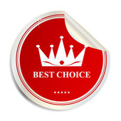 Vector Best choice label sticker — Stock Vector