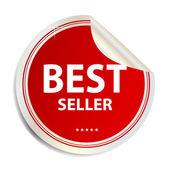 Vector beste verkoper label sticker — Stockvector