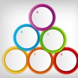 Concept of colorful circular banners with arrows for different b — Stock Vector #19391939