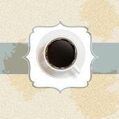 Coffee invitation background — Stock Vector